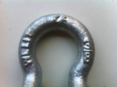 BOW SHACKLE - 1.0 TON - GALVANISED