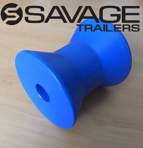 "BOAT TRAILER BOW ROLLER - BLUE HARD POLY 3""- AUSTRALIAN MADE - ROLLER ONLY"
