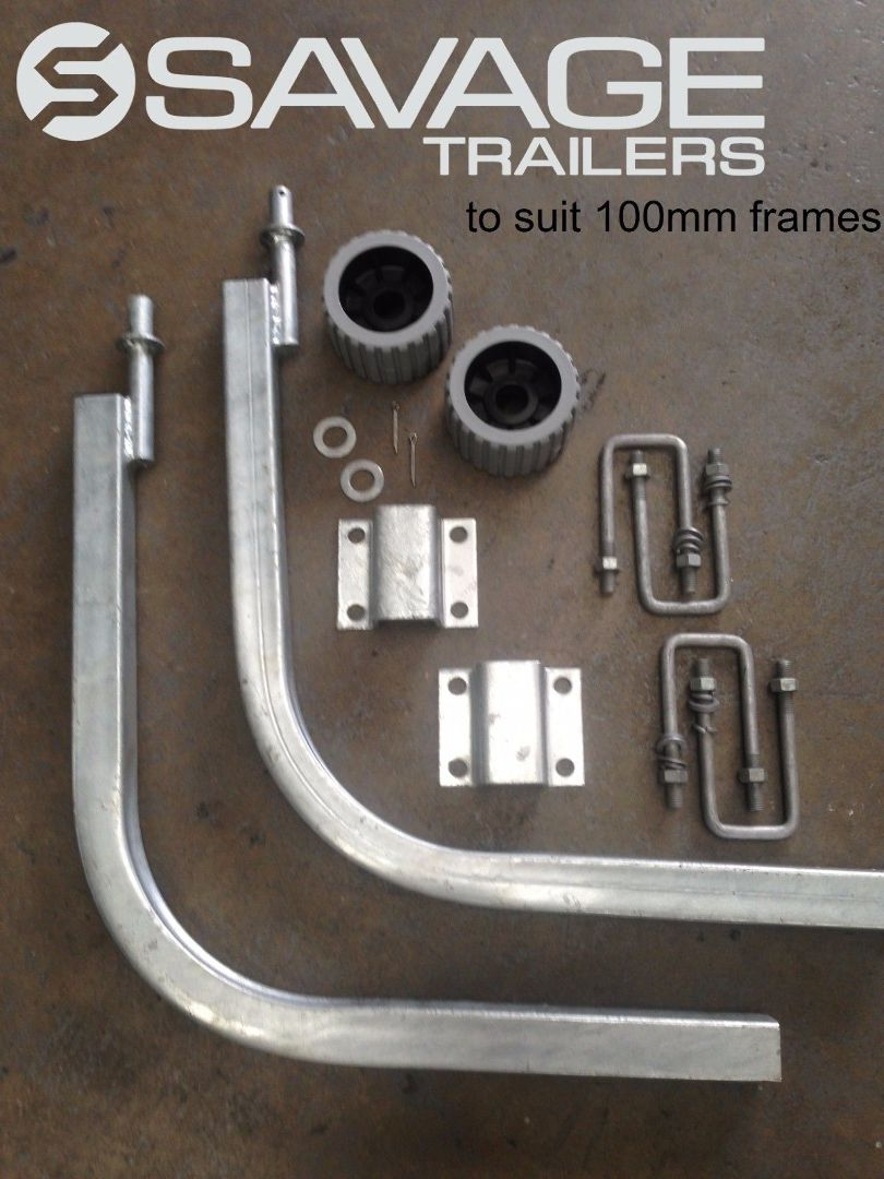 Galvanised Boat Trailer Guide Pole Kit Standard Savage Trailers Return From Wiring A To