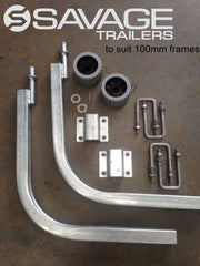 GALVANISED BOAT TRAILER GUIDE POLE KIT - STANDARD