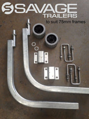 GALVANISED BOAT TRAILER GUIDE POLE KIT - LONG