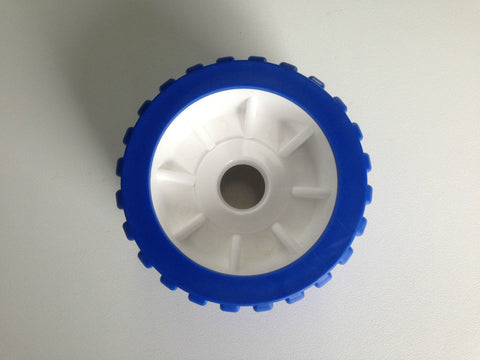 BOAT TRAILER WOBBLE ROLLERS - BLUE & WHITE AUST MADE - BULK BUY 14 - 110 x 75mm