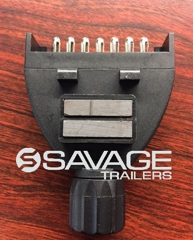7 PIN FLAT MAGNETIC TRAILER PLUG CONNECTOR - MALE