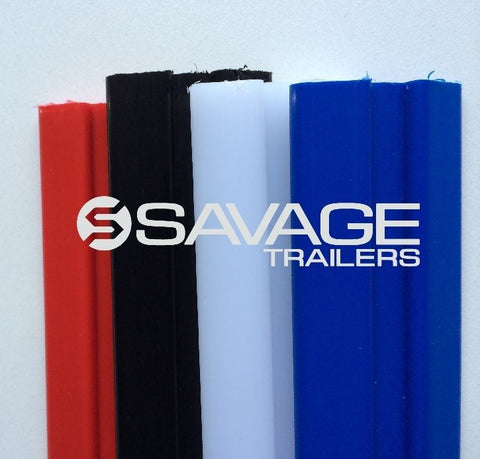 TRAILER SKIDS - 1.0M GROOVED POLY 50x12mm Australian Made - 4 COLOURS AVAILABLE