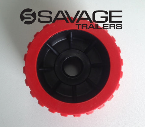 "4"" BOAT TRAILER WOBBLE ROLLER VARIOUS COLOURS 110x75mm SINGLE ROLLER AUSTRALIAN MADE"