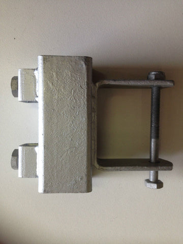 GALVANISED HEAVY DUTY SLIDE BRACKET - SUITS 75x50 CROSSMEMBER - 40x40 UPRIGHTS