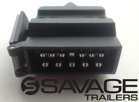 12 PIN HIGH CURRENT TRAILER PLUG CONNECTOR - MALE