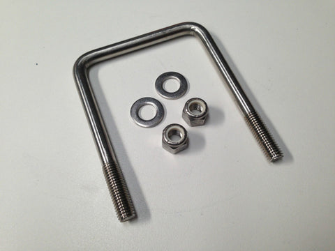"STAINLESS STEEL U BOLT 1/2"" - TO SUIT 4"" x 4"" - FITS AMERICAN/AUS ALLOY TRAILERS"