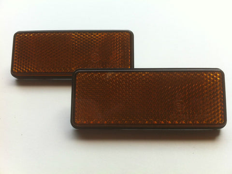 TRAILER REFLECTORS - BOLT-ON AMBER 1 x PAIR