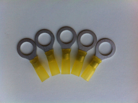WATERPROOF RING TERMINALS - YELLOW x 5