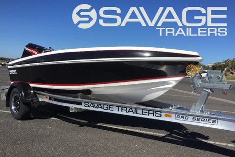 SAVAGE TRAILERS SS - BOAT TRAILER GUNWALE RATCHET TIE DOWN STRAP - 1500KG