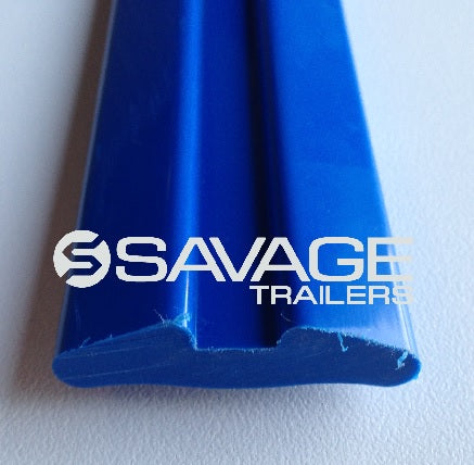 50x12mm GROOVED POLY BOAT TRAILER SKID - 1 METRE LENGTH