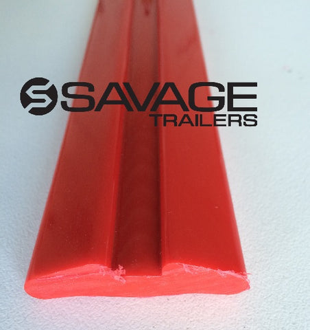 3 METRE GROOVED POLY BOAT TRAILER SKID - AUST MADE - 50 x 12 x 3000mm - BLUE | BLACK | RED | WHITE