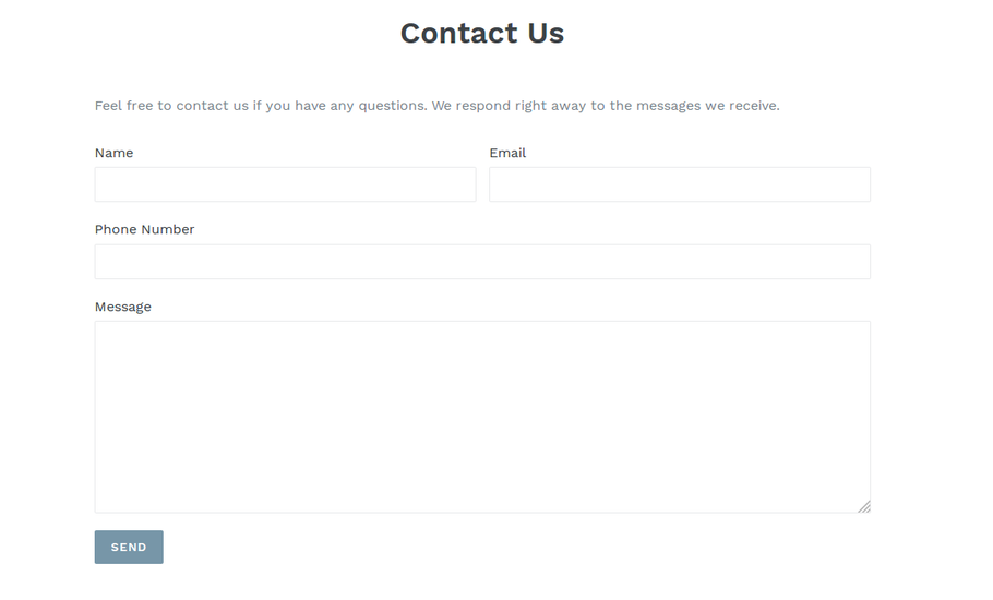 New Encrypted Contact Form