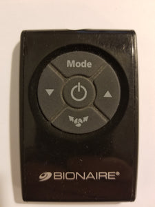 Bionaire Fan Remote Control, black, front view