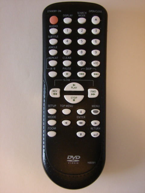 NB091 DVD player Remote Control frontal view