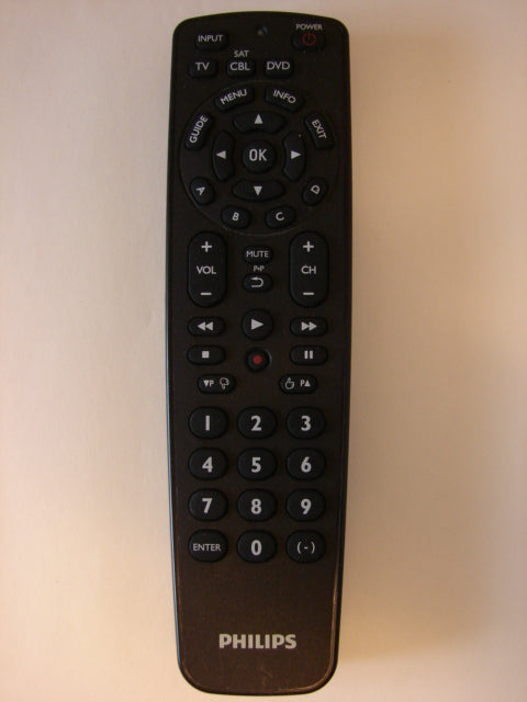 front of Philips TV DVD Remote Control