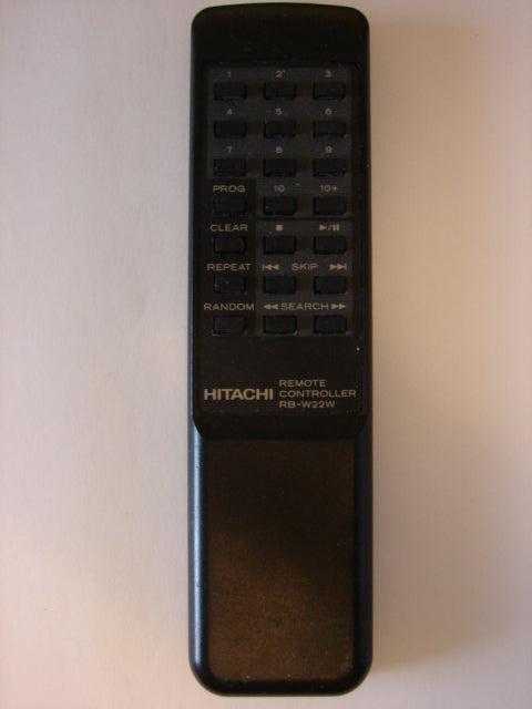 front image Hitachi RB-W22W Remote Control for CD Player