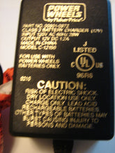 close up of text on 12V Power Wheels AC Adapter 00801-0972