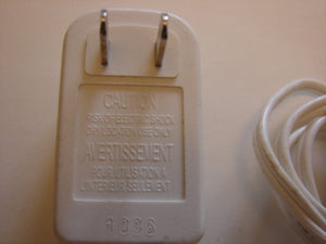 back view of Fisher-Price Baby Monitor AC Adapter wall power plug cord PA-0610-DUA