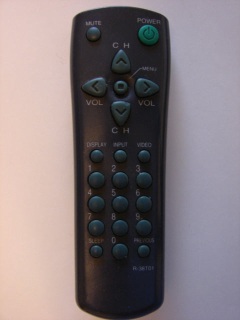 front view Daewoo R-38T01 TV Remote Control