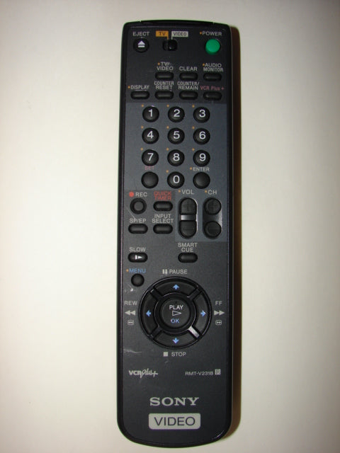 from the front Sony VCR plus + Remote Control RMT-V231B