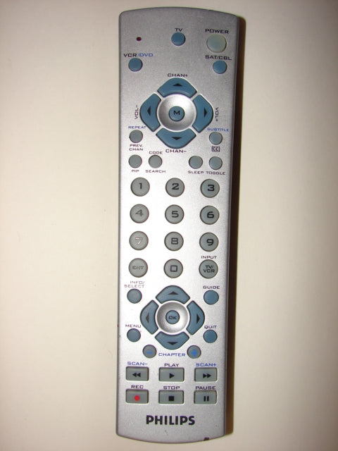 front image of the Philips TV VCR Remote Control CL015