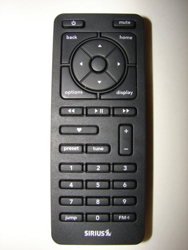 Sirius XM Satellite Radio Stiletto SL2 Remote Control front