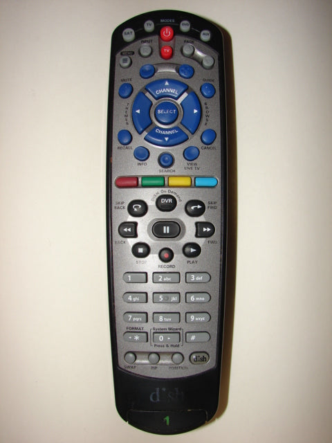 front view Dish Network Satellite TV Remote Control 180546