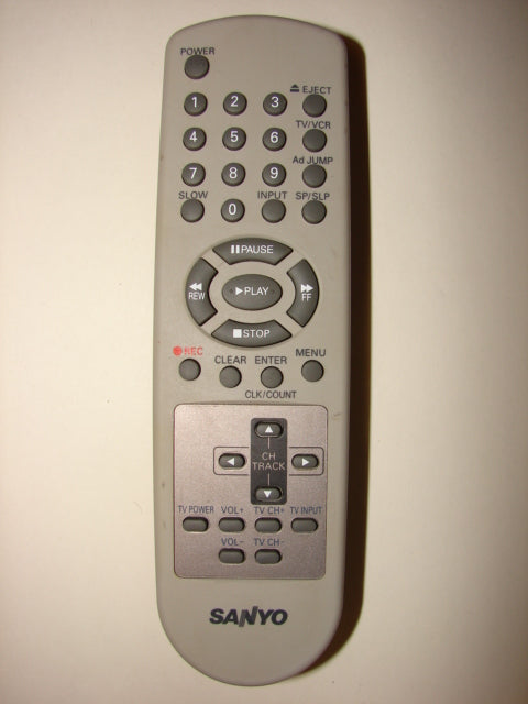 Sanyo TV VCR Remote Control frontal photo