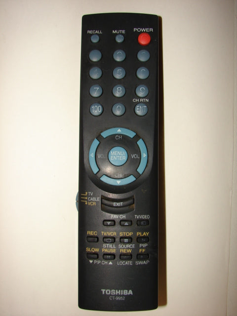 CT-9952 Toshiba TV VCR Cable Remote Control front part