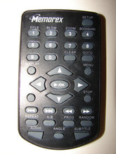 obverse image of Memorex DVD player Remote Control MVDP1085/1088/1102