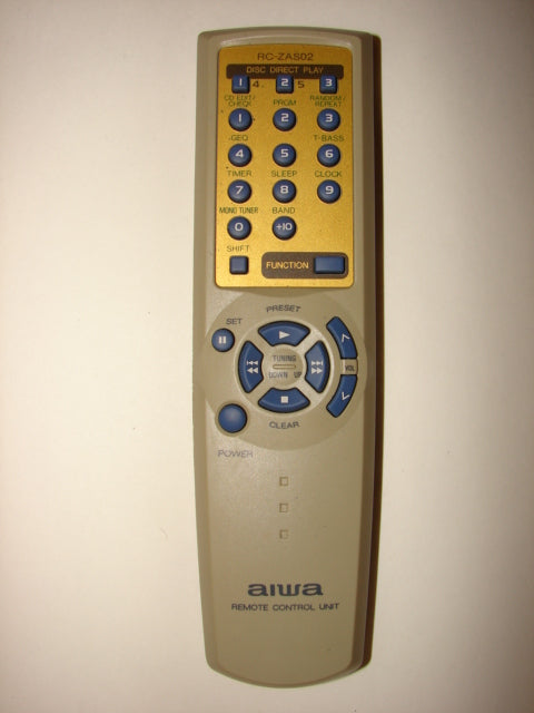 front view of RC-ZAS02 AIWA CD Player Remote Control