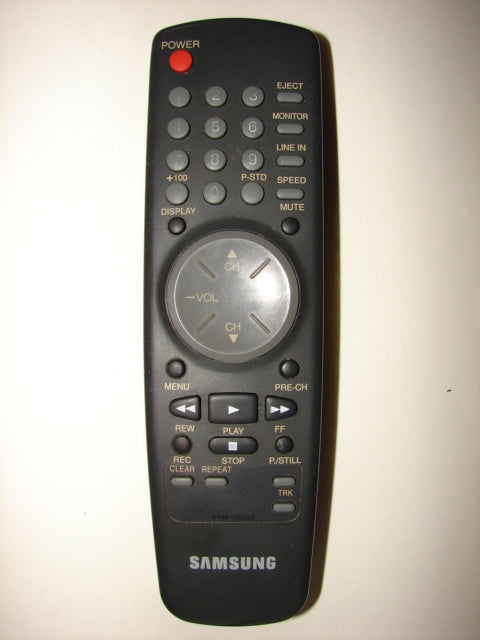 vcr image from top of Samsung Remote Control AA59-10026E