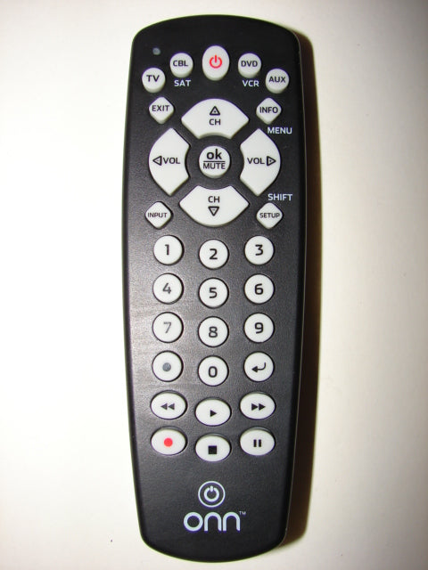 photo of front of ONN Remote Control ONB13AV004