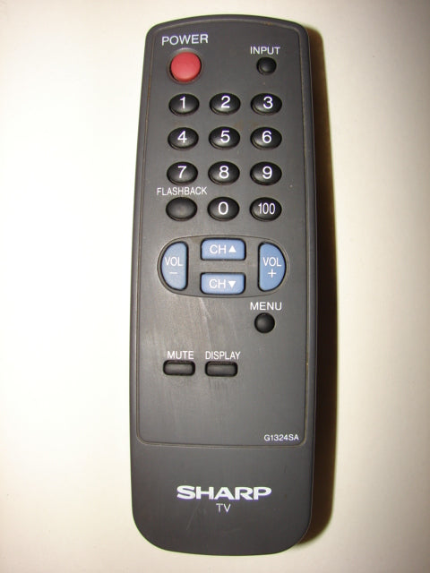 top view image of the SHARP TV Remote Control G1324SA