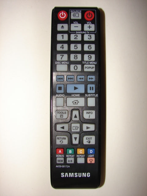 Samsung DVD Player Remote Control AK59-00172A from the top