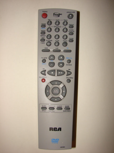 front photo of the top of RCA Remote Control 00058A