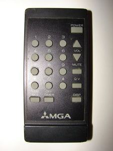 frontal view of MGA Mitsubishi TV Remote Control 939P204A1