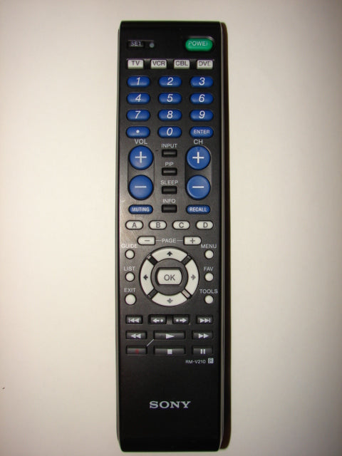 an image of the Sony TV DVD Player Remote Control RM-V210