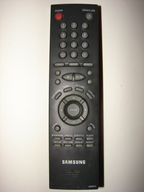 Samsung DVD player Remote Control 00092A top photo