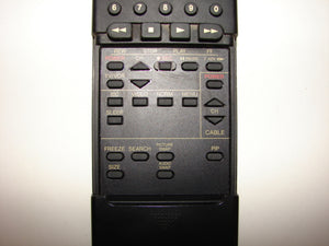 image with sliding door pulled down on the Panasonic TV VCR Remote Control UR51EC740 4 EUR51703