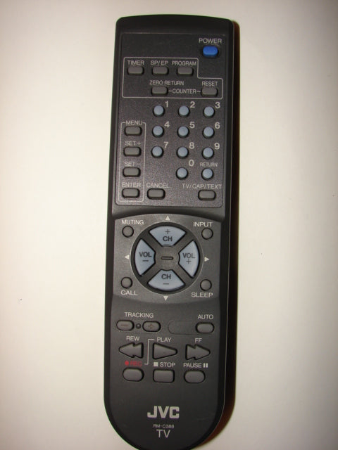 top image of JVC TV Remote Control UR52EC1286-3 RM-C388
