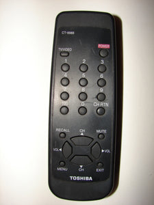front picture of the Toshiba TV Remote Control CT-9988
