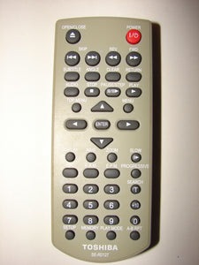 front picture of the Toshiba DVD Player Remote Control SE-R0127