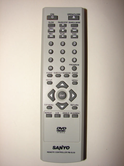 Sanyo DVD Player Remote Control RB-SL50 from the front