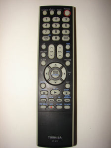 picture from the front of the Toshiba TV VCR Cable Remote Control CT-877