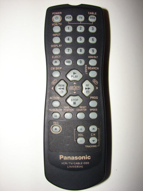 Panasonic TV VCR Cable DSS Universal Remote Control LSSQ0235 front view