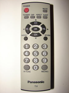 Panasonic TV Remote Control SAP R-Tune EUR7726020 462M front view