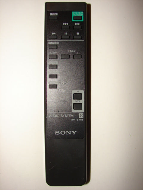 SONY RM-S455 Audio System Remote Control frontal photo